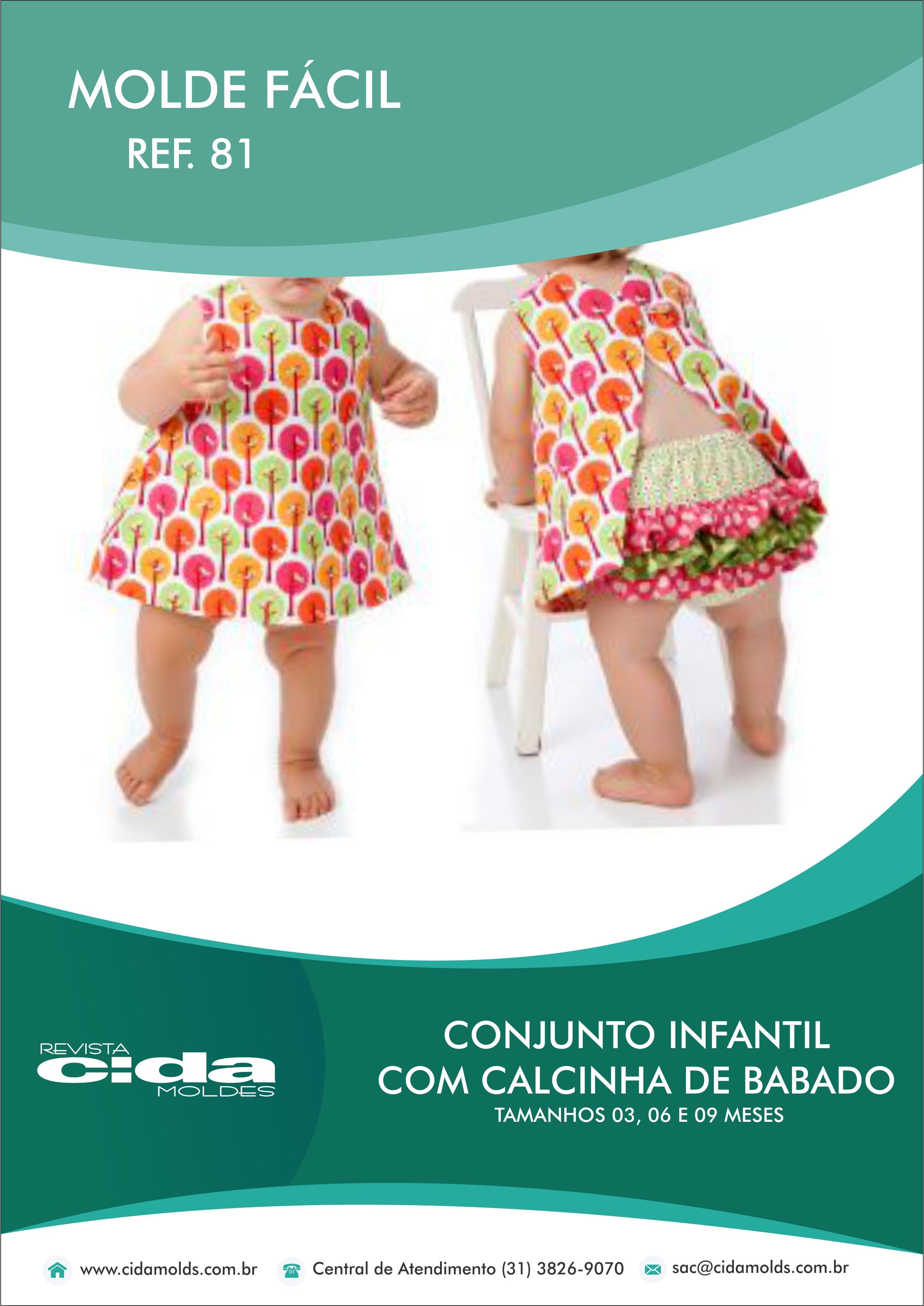 2381ffced MOLDE FÁCIL 81 – CONJUNTO INFANTIL COM CALCINHA DE BABADO – Revista ...