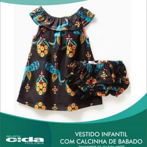 0b8d31fd5 MOLDE FÁCIL 92 – VESTIDO INFANTIL COM CALCINHA DE BABADO