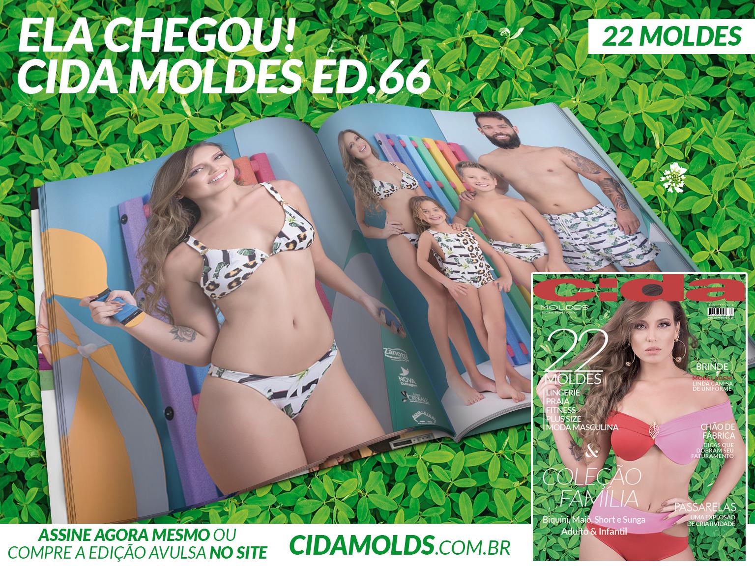 b7ce1adf21 Revista Cida Moldes 66 chega esbanjando novidades